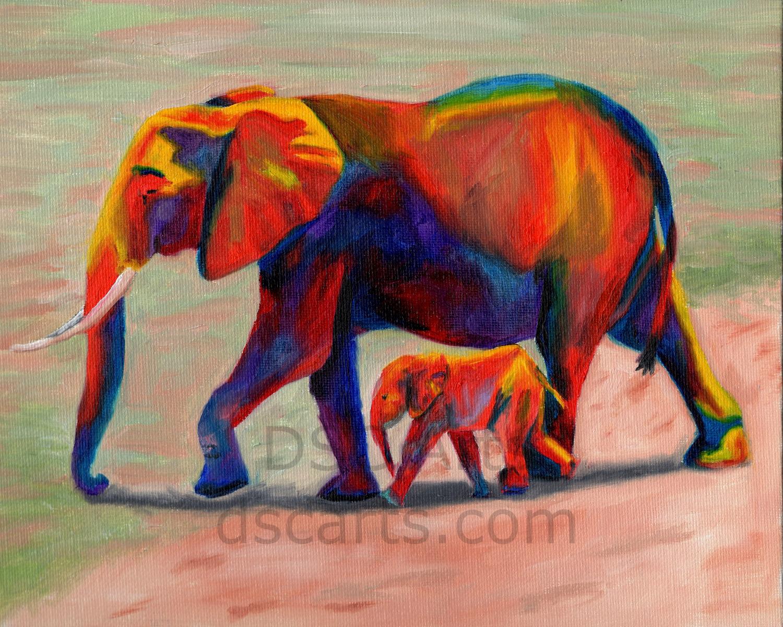 Colorful Elephants – DSC Arts